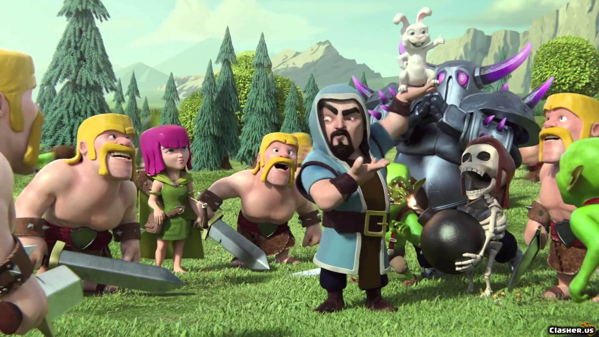 Wizard Rabbit Wall Breaker Archer Barbarian Pekka 11